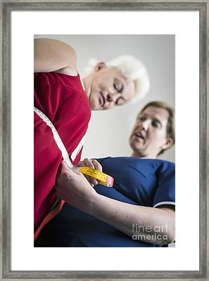 Diabetes Clinic, Waist Measurement Framed Print