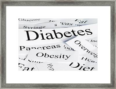 Diabetes Concept Framed Print by Colin and Linda McKie