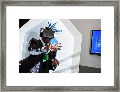 Diabetes Virtual Reality Demonstration Framed Print by Dan Dunkley
