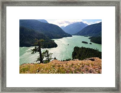 Diablo Lake Framed Print by Kelly Reber