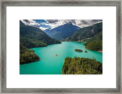 Diablo Lake  Framed Print by Pierre Leclerc Photography