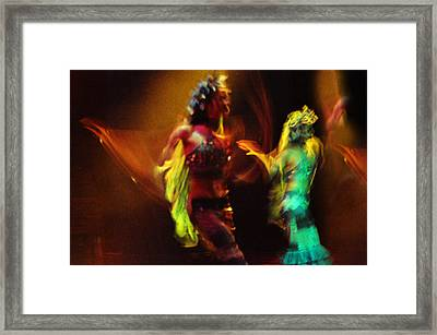 Diabolic. Passionate Dance Of The Night Angels Framed Print by Jenny Rainbow