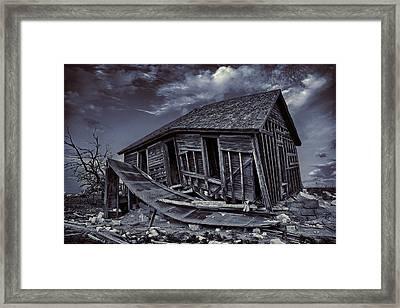 Diabolical Farmstead Framed Print by Thomas Zimmerman