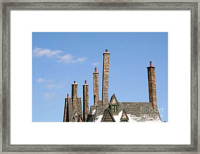 Diagon Alley Chimney Stacks Framed Print