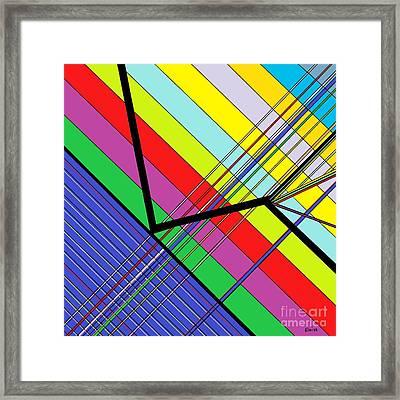 Diagonal Color Framed Print by Eloise Schneider