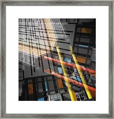 Diagonal Mondrian Framed Print