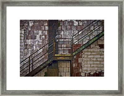 Diagonal Stairs Framed Print by Murray Bloom