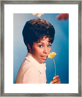 Diahann Carroll In Julia  Framed Print by Silver Screen