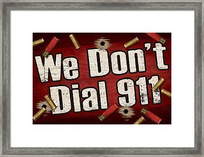 Dial 911 Framed Print by JQ Licensing