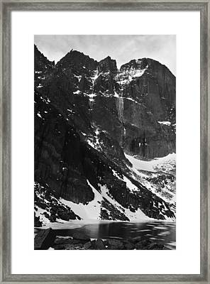 Diamond Avalanche Bw Framed Print