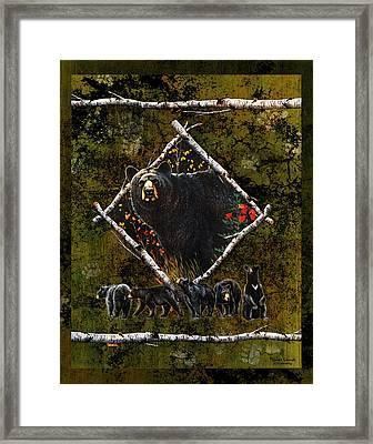 Diamond Bear Framed Print by JQ Licensing