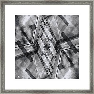 Diamond Cross  Bw Framed Print