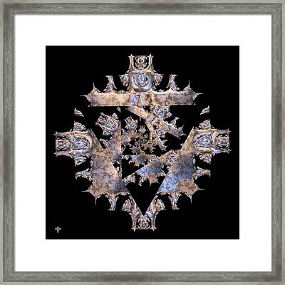 Diamond Crusted Framed Print