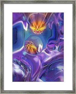 Framed Print featuring the digital art Diamond Dance by Steve Sperry