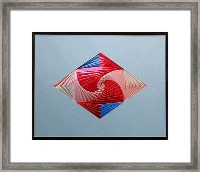 Framed Print featuring the mixed media Diamond Design by Ron Davidson