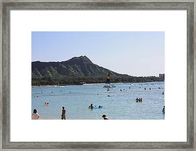 Diamond Head In The Afternoon Framed Print by Adam Levine