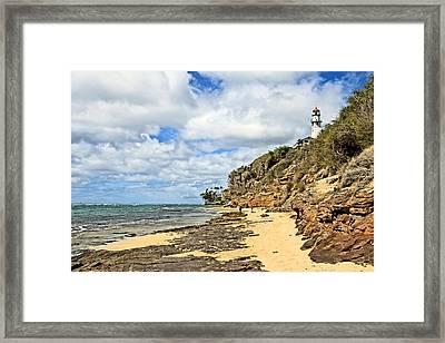 Diamond Head Lighthouse Framed Print by DJ Florek