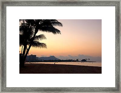Diamond Head Sunrise - Honolulu Hawaii Framed Print by Brian Harig