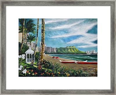 Diamond Head Waikiki Framed Print