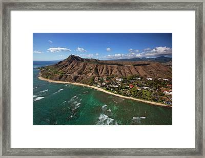 Diamond Head, Waikiki, Oahu, Hawaii Framed Print by Douglas Peebles