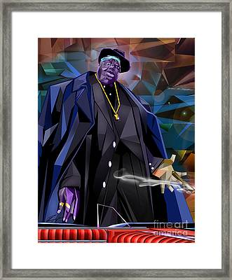 Diamond In The Rough - Biggie Amongst Men Framed Print by Reggie Duffie