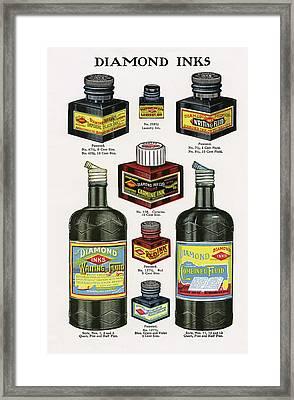 Diamond Ink 1913 Framed Print by Daniel Hagerman