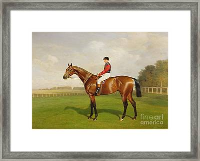 Diamond Jubilee Winner Of The 1900 Derby Framed Print by Emil Adam
