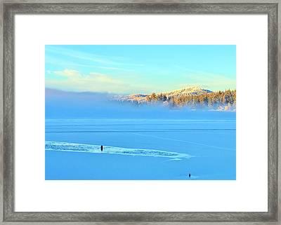 Diamond Lake Frozen Framed Print