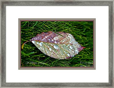 Diamond Leaf Shimmer Framed Print