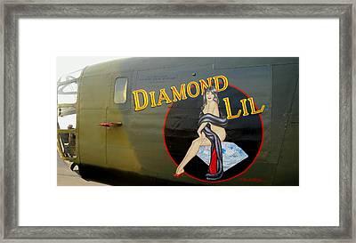 Diamond Lil B-24 Bomber Framed Print by Amy McDaniel