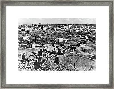 Diamond Mining Framed Print