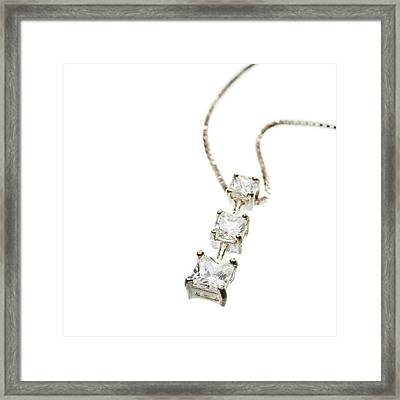 Diamond Necklace Framed Print by Science Photo Library
