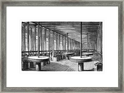 Diamond Polishing Machines Framed Print by Science Photo Library