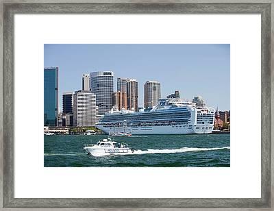 Diamond Princess Cruise Ship Framed Print