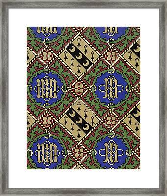 Diamond Print Ecclesiastical Wallpaper Framed Print by Augustus Welby Pugin