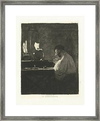 Diamond Processor At Work In His Workshop Framed Print by Quint Lox