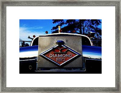 Diamond Reo Hood Ornament Framed Print