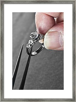Diamond Ring Remount Framed Print
