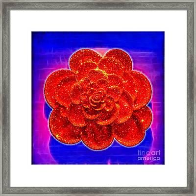 Diamond Rose Framed Print by Kasia Bitner