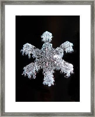 Diamond Snowflake Framed Print