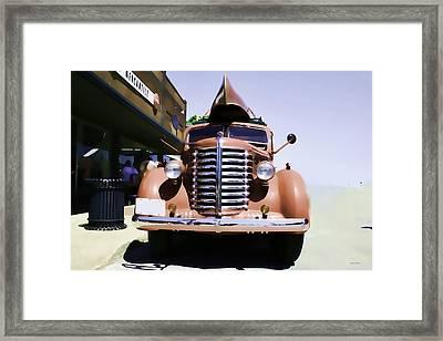 Diamond T Truck - Sahara Framed Print