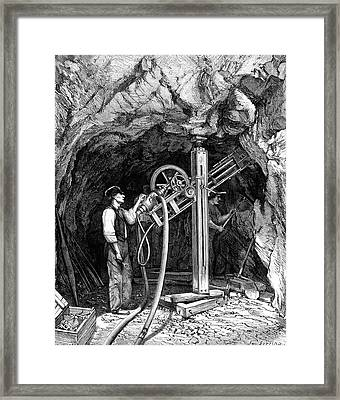 Diamond-tipped Drilling Machine Framed Print by Collection Abecasis
