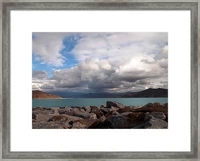 Diamond Valley Lake - California Framed Print by Glenn McCarthy Art and Photography