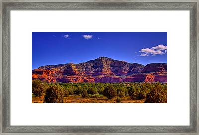 Diamondback Gulch Near Sedona Arizona Iv Framed Print by David Patterson