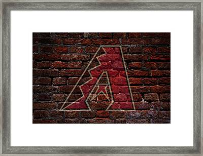 Diamondbacks Baseball Graffiti On Brick  Framed Print by Movie Poster Prints
