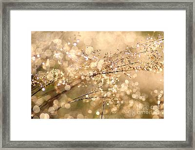 Diamonds And Pearls Framed Print by Jana Behr
