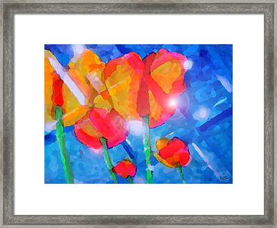 Diamonds Framed Print by Marcello Cicchini