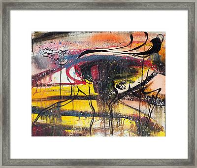 Diamonds On The Face Of Evil II Framed Print by Sheridan Furrer