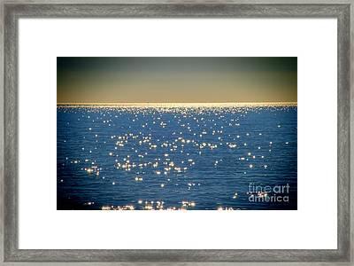 Diamonds On The Ocean Framed Print by Mariola Bitner