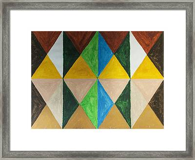 Diamonds Framed Print by Stormm Bradshaw